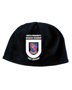508th Bde Crest Flash Embroidered Fleece Beanie