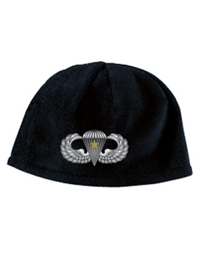 Basic Wings w/ Combat Jump Embroidered Fleece Beanie