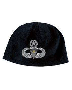 Master Wings w/ Combat Jump Embroidered Fleece Beanie