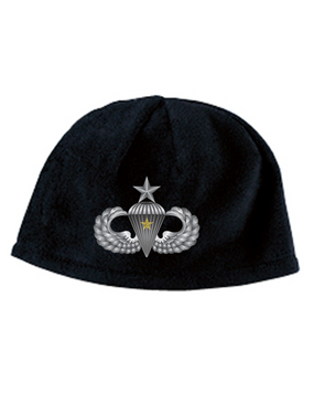 Senior Wings w/ Combat Jump Embroidered Fleece Beanie