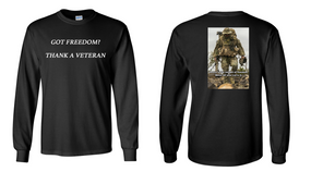 Got Freedom ...Thank a Veteran  Long-Sleeve Cotton Shirt