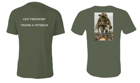 Got Freedom ...Thank a Veteran  Cotton Shirt