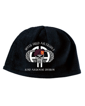 319th Punisher Embroidered Fleece Beanie