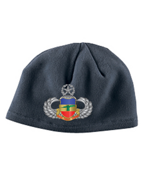3-73rd Armor Master Wings Embroidered Fleece Beanie