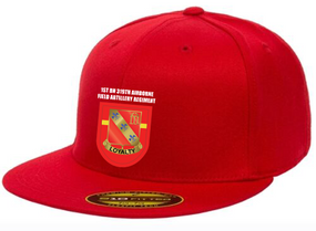 1-319th Crest Flash Embroidered Flexdfit Baseball Cap
