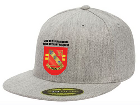 2-319th Crest Flash Embroidered Flexdfit Baseball Cap