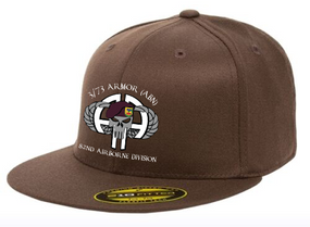 3-73rd Armor Punisher Embroidered Flexdfit Baseball Cap