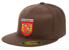 4-319th Crest Flash Embroidered Flexdfit Baseball Cap