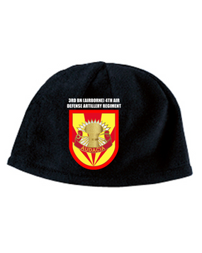 3/4 ADA Crest Flash Embroidered Fleece Beanie