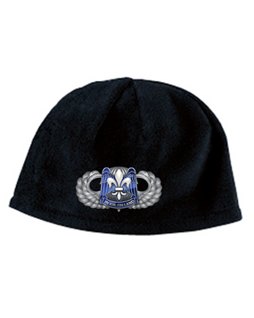 82nd HQ Basic Wings Embroidered Fleece Beanie