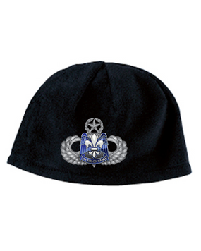 82nd HQ Master Wings Embroidered Fleece Beanie
