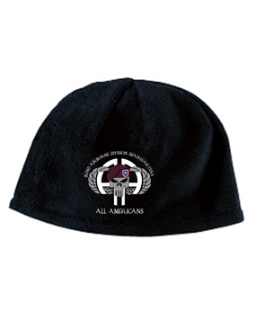 82nd HQ Punisher Embroidered Fleece Beanie