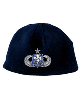 82nd HQ Senior Wings Embroidered Fleece Beanie