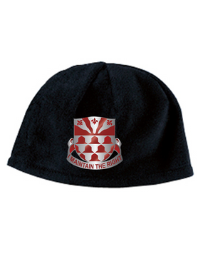 307th Combat Engineers Crest Embroidered Fleece Beanie