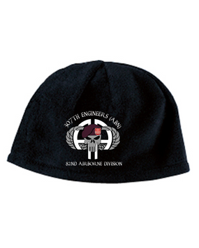 307th Combat Engineers Punisher Embroidered Fleece Beanie