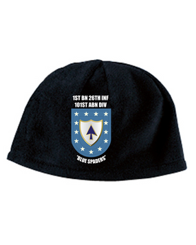 1-26th Infantry Regiment Crest/Flash  Embroidered Fleece Beanie