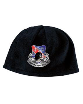 327th Infantry Regiment Skull Embroidered Fleece Beanie