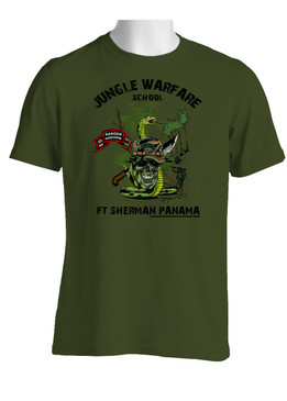 2/75th Ranger Battalion Original Scroll Jungle Master Cotton T-Shirt