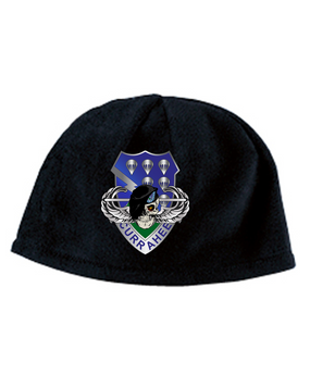 506th Parachute Infantry Regiment Skull Embroidered Fleece Beanie