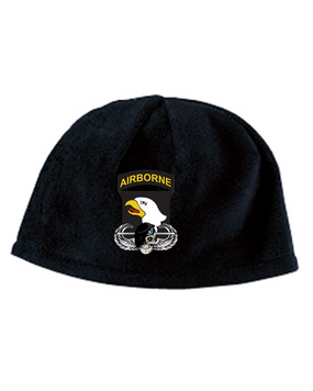 101st Airborne Division Embroidered Fleece Beanie