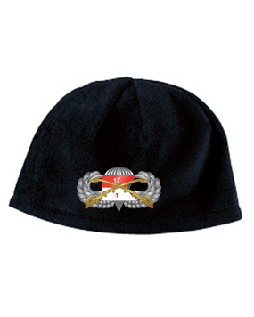 1-17th Cav Basic Embroidered Fleece Beanie