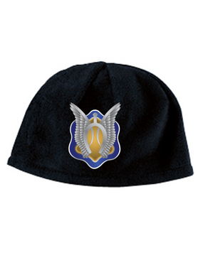 1-17th Cav Crest Embroidered Fleece Beanie