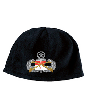 1-17th Cav Master Embroidered Fleece Beanie