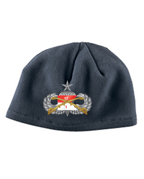 1-17th Cav Senior Embroidered Fleece Beanie