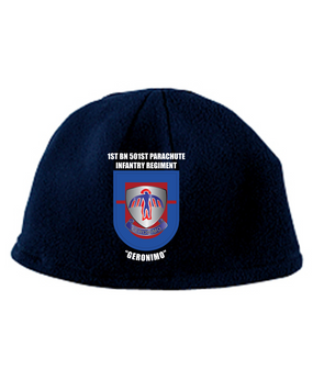 1-501st Crest Flash Embroidered Fleece Beanie