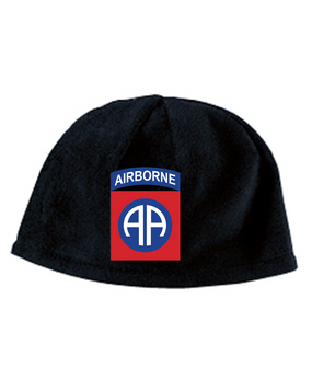 82nd Embroidered Fleece Beanie