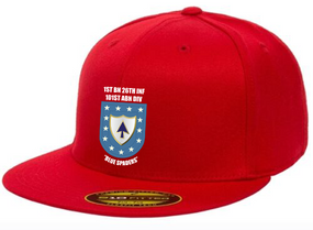 "1-26th Infantry ""Crest Flash""  Embroidered Flexfit Baseball Cap"