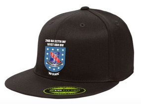 "2-327th Infantry Regiment ""Crest Flash""  Embroidered Flexfit Baseball Cap"