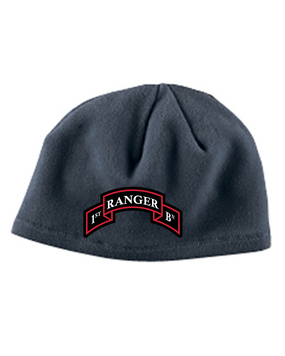 "1-75th ""Scroll "" Embroidered Fleece Beanie"