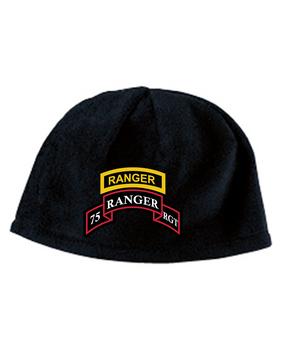 75th Ranger Regiment Tab Embroidered Fleece Beanie