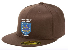 2-502nd Parachute Infantry Regiment Embroidered Flexfit Baseball Cap