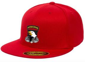 "101st Airborne Division ""Skull""  Embroidered Flexfit Baseball Cap"