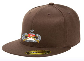 "1/17th Cavalry Regiment (Airborne) ""Senior"" Embroidered Flexfit Baseball Cap"