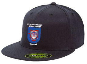 "1-501st PIR ""Crest/Flash""  Embroidered Flexfit Baseball Cap"