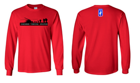 RED-173rd Airborne Brigade Long Sleeve Cotton Shirt
