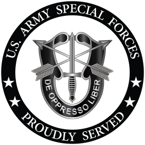 US Army Special Forces Vinyl Cut Decal
