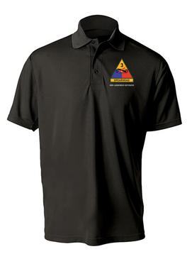 3rd Armored Division Embroidered Moisture Wick Shirt -(OS)