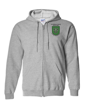 10th Special Forces Group  Embroidered Hooded Sweatshirt with Zipper (OS)