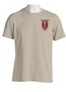 """2-505th Parachute Infantry Battalion  """"Crest & Flash"""" Cotton Shirt (OS)"""