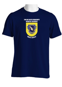 "2-504th Parachute Infantry Regiment ""Crest & Flash""  Cotton Shirt (OS)"