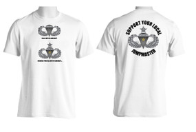 Support Your Local Jumpmaster (Senior Wings w/ CJ )  Moisture Wick Shirt (OS)