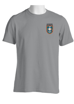 "313th Military Intelligence Battalion (ABN) ""Flash & Crest""  Cotton Shirt (OS)"