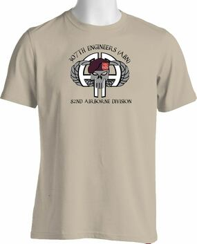 307th Combat Engineers (Airborne)  Cotton Shirt (OS)