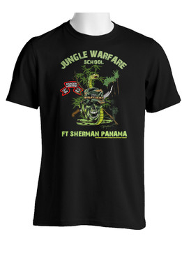 "1/75th Ranger Battalion ""Original Scroll"" Jungle Master Cotton T-Shirt (OS)"