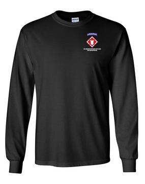 27th Engineer Battalion Long-Sleeve Cotton T-Shirt (OS)