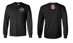 307th Combat Engineer Battalion Senior Jumpmaster Long-Sleeve Cotton Shirt (OS)